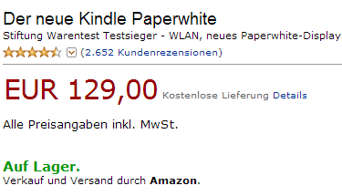 Kundenbewertungen, Screenshot Amazon
