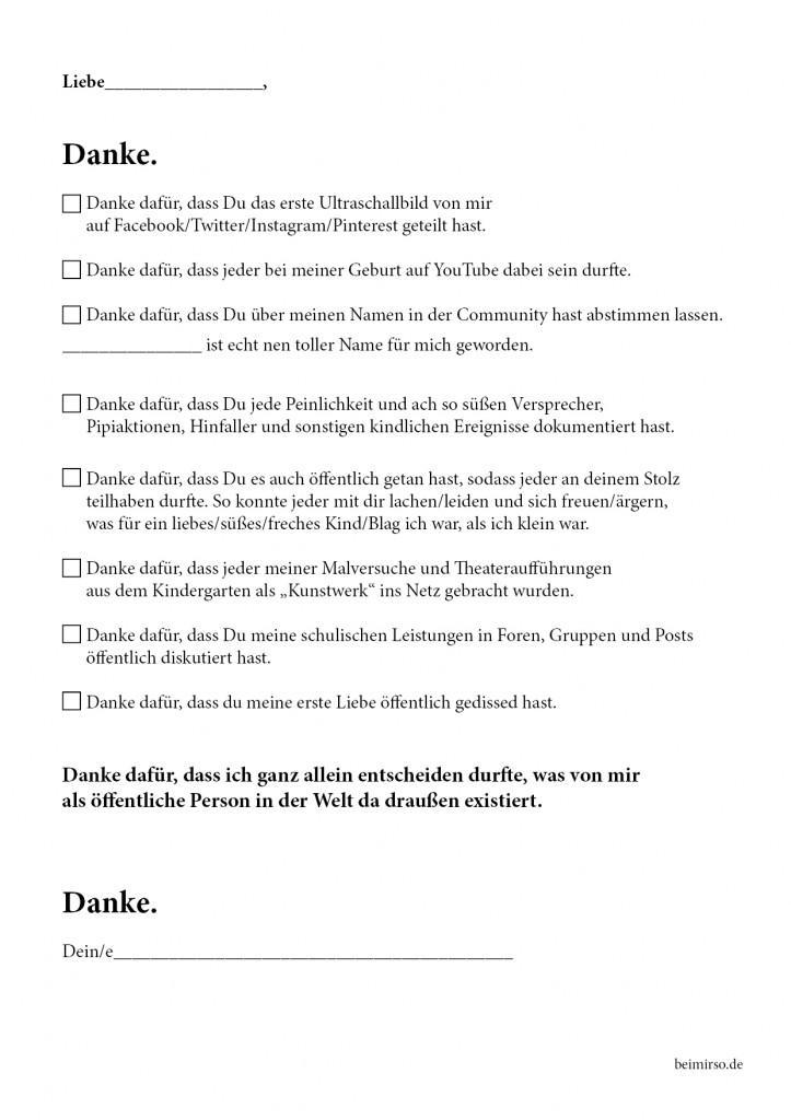 beimirso.de, Dankesbrief öffentliche Privatsphäre